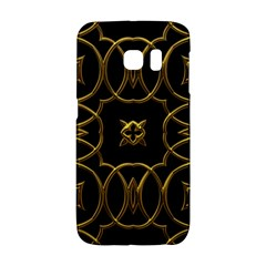 Black And Gold Pattern Elegant Geometric Design Galaxy S6 Edge