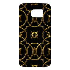 Black And Gold Pattern Elegant Geometric Design Galaxy S6