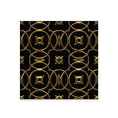 Black And Gold Pattern Elegant Geometric Design Satin Bandana Scarf