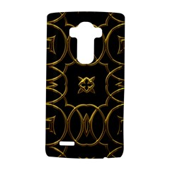 Black And Gold Pattern Elegant Geometric Design LG G4 Hardshell Case