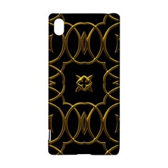 Black And Gold Pattern Elegant Geometric Design Sony Xperia Z3+
