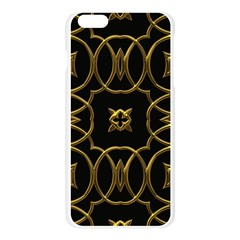 Black And Gold Pattern Elegant Geometric Design Apple Seamless iPhone 6 Plus/6S Plus Case (Transparent)