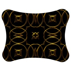Black And Gold Pattern Elegant Geometric Design Jigsaw Puzzle Photo Stand (Bow)