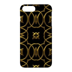 Black And Gold Pattern Elegant Geometric Design Apple iPhone 7 Plus Hardshell Case