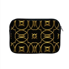 Black And Gold Pattern Elegant Geometric Design Apple MacBook Pro 15  Zipper Case