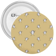 Happy Character Kids Motif Pattern 3  Buttons