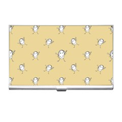 Happy Character Kids Motif Pattern Business Card Holders