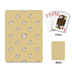 Happy Character Kids Motif Pattern Playing Card