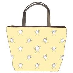 Happy Character Kids Motif Pattern Bucket Bags