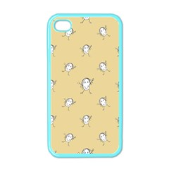 Happy Character Kids Motif Pattern Apple iPhone 4 Case (Color)
