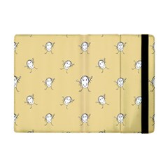 Happy Character Kids Motif Pattern Apple iPad Mini Flip Case