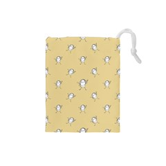Happy Character Kids Motif Pattern Drawstring Pouches (Small)