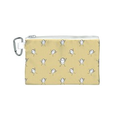 Happy Character Kids Motif Pattern Canvas Cosmetic Bag (S)
