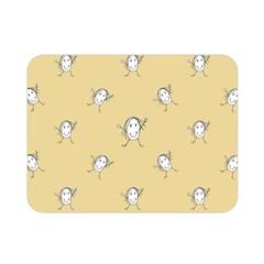 Happy Character Kids Motif Pattern Double Sided Flano Blanket (Mini)