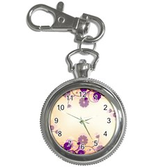 Background Floral Background Key Chain Watches