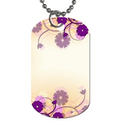 Background Floral Background Dog Tag (two Sides)