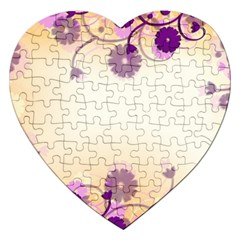 Background Floral Background Jigsaw Puzzle (Heart)