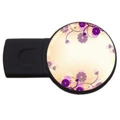 Background Floral Background Usb Flash Drive Round (4 Gb)