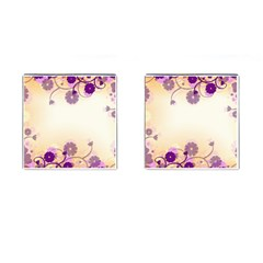Background Floral Background Cufflinks (square)