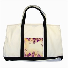 Background Floral Background Two Tone Tote Bag