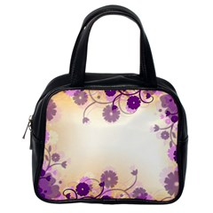 Background Floral Background Classic Handbags (one Side)