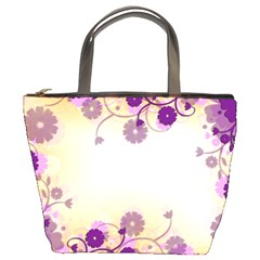 Background Floral Background Bucket Bags