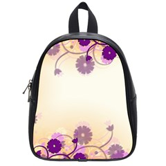 Background Floral Background School Bags (Small)