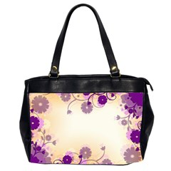 Background Floral Background Office Handbags (2 Sides)