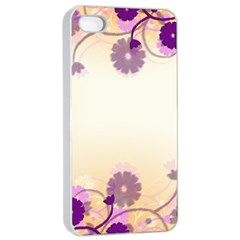 Background Floral Background Apple iPhone 4/4s Seamless Case (White)