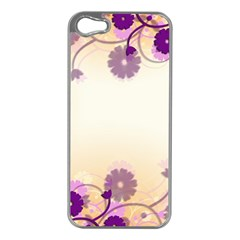 Background Floral Background Apple iPhone 5 Case (Silver)