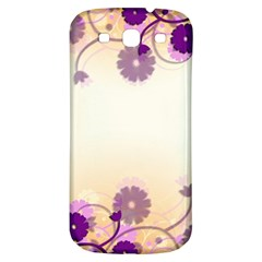 Background Floral Background Samsung Galaxy S3 S III Classic Hardshell Back Case