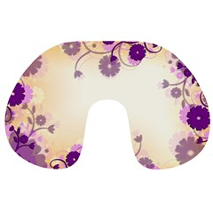 Background Floral Background Travel Neck Pillows