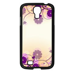 Background Floral Background Samsung Galaxy S4 I9500/ I9505 Case (Black)