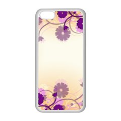 Background Floral Background Apple Iphone 5c Seamless Case (white)