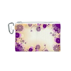 Background Floral Background Canvas Cosmetic Bag (s)