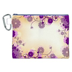 Background Floral Background Canvas Cosmetic Bag (XXL)
