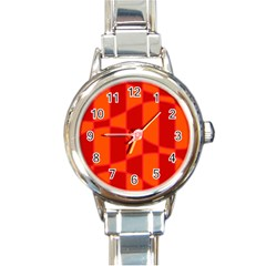 Background Texture Pattern Colorful Round Italian Charm Watch