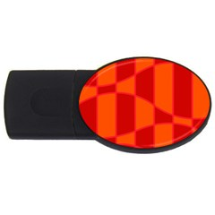 Background Texture Pattern Colorful USB Flash Drive Oval (4 GB)