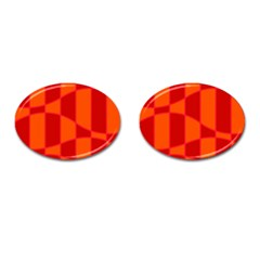 Background Texture Pattern Colorful Cufflinks (Oval)