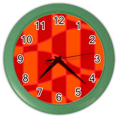 Background Texture Pattern Colorful Color Wall Clocks