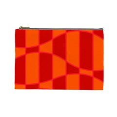 Background Texture Pattern Colorful Cosmetic Bag (Large)