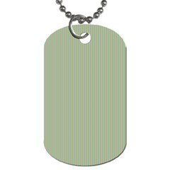 Background Pattern Green Dog Tag (one Side)
