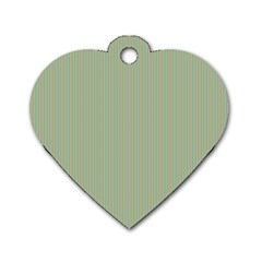 Background Pattern Green Dog Tag Heart (One Side)