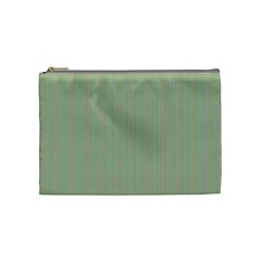 Background Pattern Green Cosmetic Bag (medium)