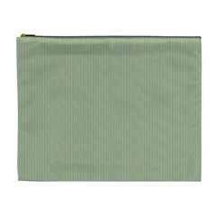 Background Pattern Green Cosmetic Bag (XL)