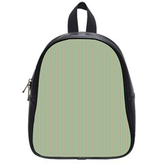 Background Pattern Green School Bags (Small)