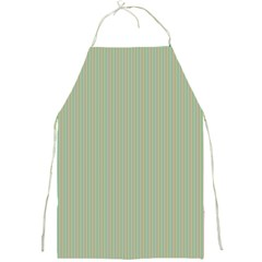 Background Pattern Green Full Print Aprons