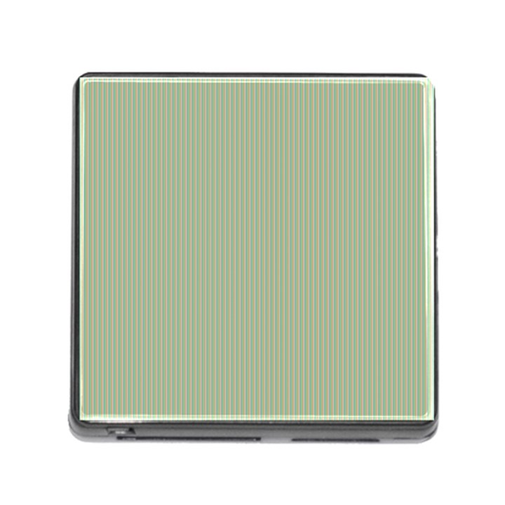 Background Pattern Green Memory Card Reader (Square)