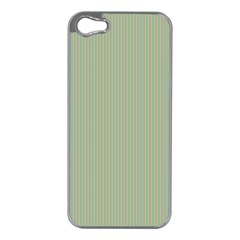 Background Pattern Green Apple iPhone 5 Case (Silver)
