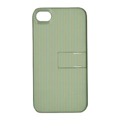 Background Pattern Green Apple iPhone 4/4S Hardshell Case with Stand